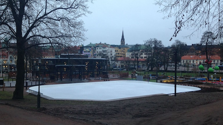 Isbanan stadsparken, Borås. Foto: Camilla Walldán/SR