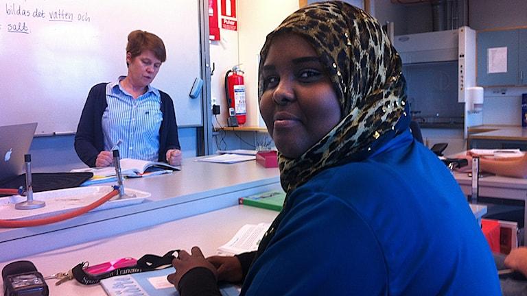 Samira Amin Abdulkadir, elev Tranängskolan. Foto: Jenny Hellström