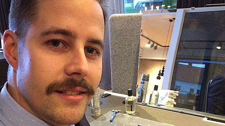 Man med mustasch Foto: Niclas Odengård/SR