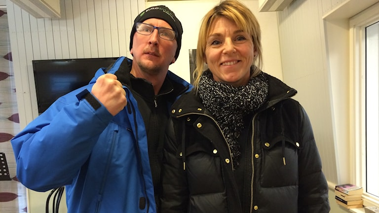 Jens Peterson och Åsa Zimmerman Foto: Kristin Holmberg/SR