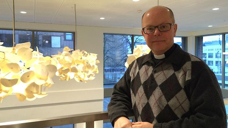 Anders Ljungström, studentpräst på Högskolan i Borås. Foto: Melissa Gustafsson/SR