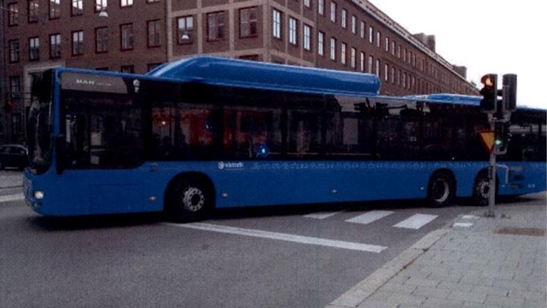 Olycksbussen. Bild ur förundersökningen.
