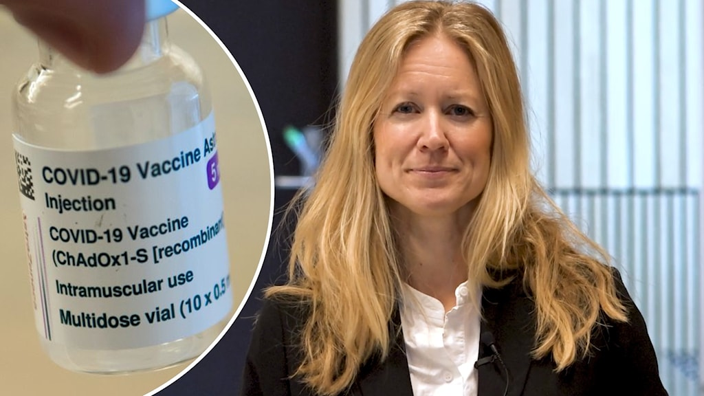 En dos vaccin och en blond kvinna.