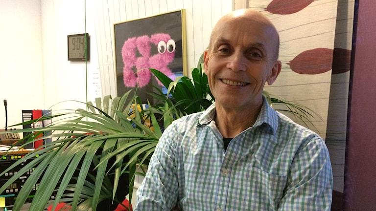 Svante Vikander, pappa till skådespelaren Alicia Vikander. Foto: Karin Ivarsson / SR.