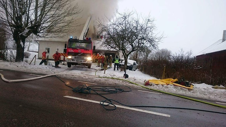 Villabrand i Älmestad Foto: David Skarland/DAVID-S FOTO