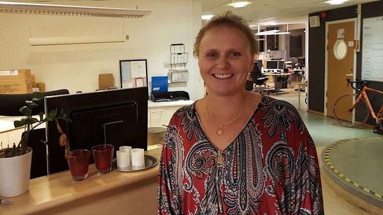 Maria Svensson, trillingmamma i Borås. Foto: Sara Nygren /SR.
