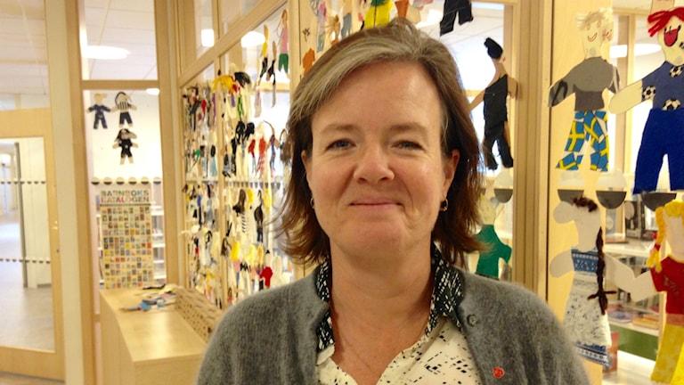 Carin Jämtin besökte Borås. Foto: Olivia Ochoa/SR