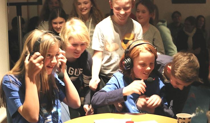 Glädjen var stor när det stod klart att Asklandaskolan klass 5A vann. Foto: Malin Björk.