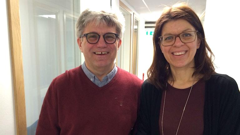 Pastor Urban Klintenberg och verksamhetsansvarig Anna-Carin Rabnor på pingstkyrkan i Borås.