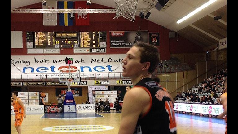 Simon Gunnarsson, Borås Basket. Foto Kristoffer Lidén