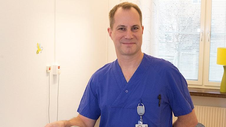 Niklas Segerdahl, barnläkare på SÄS