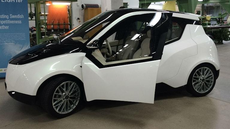 Bil av biokompositer. Melissa Gustafsson/SR