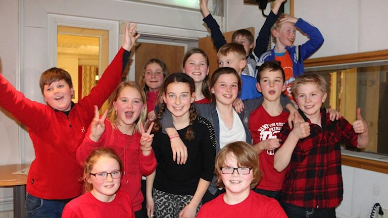Nårunga skola är vidare till tv-tävlingarna i Vi i femman. Foto: Malin Björk / SR.