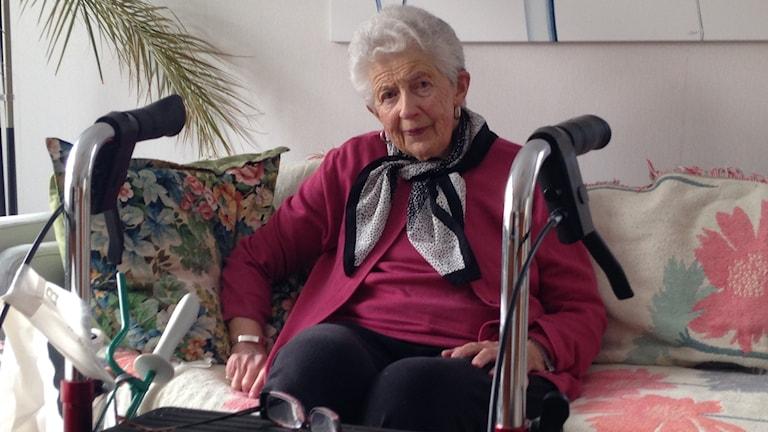 Ruth Johansson orkar inte bo kvar hemma