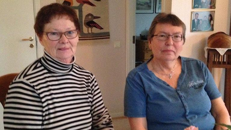 Elsa Carlbom och Astrid Carlsson.
