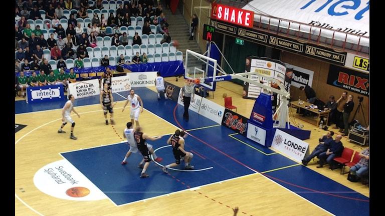 Borås Basket mot Nässjö. Foto: Staffan Kulneff/SR