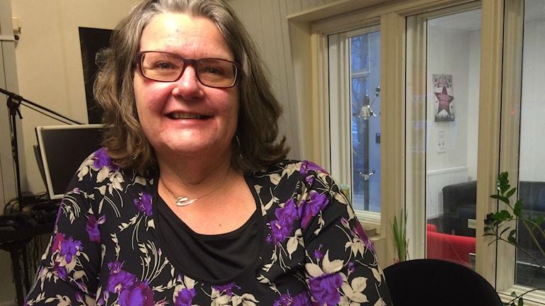 Margareta Lövgren, Kommunstyrelseordförande i Marks Kommun. Foto: Marcus Léonarde / SR