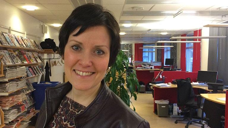 Malin Aronsson, kommundirektör i Gislaved. Foto: Karin Ivarsson / SR.