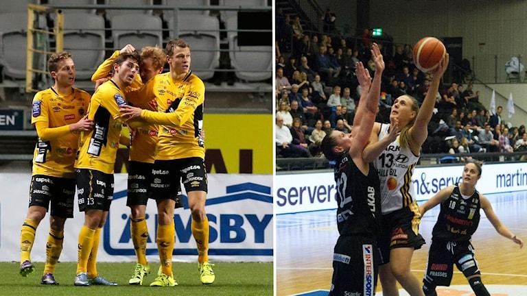 Elfsborgs herrar i fotboll och Marks damer i basket.