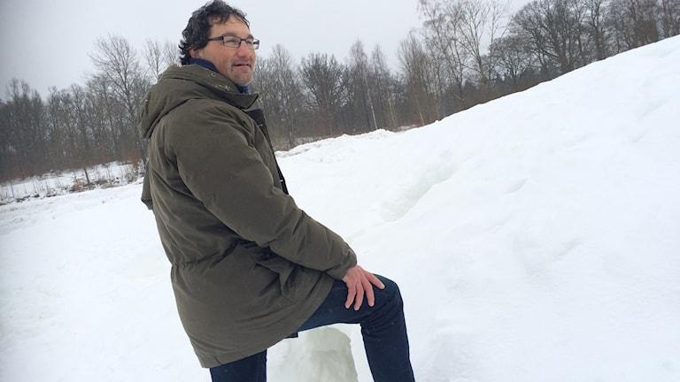 Erik Bresky Borås Science Center i snön
