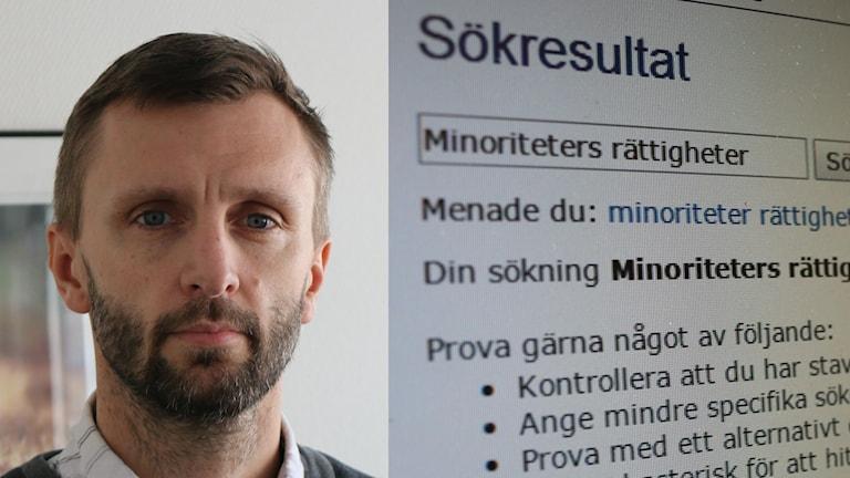 Pontus Lilja, informatör och webmaster i Vårgårda. Foto: Eric Porali.