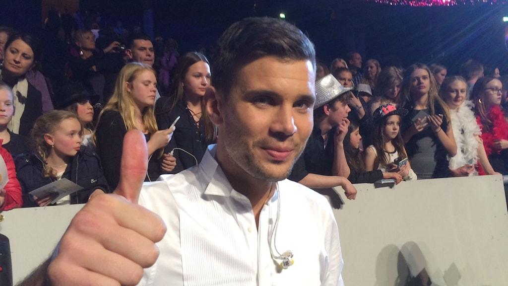 Robin Bengtsson ger femteplatsen i Melodifestivalen tummen upp