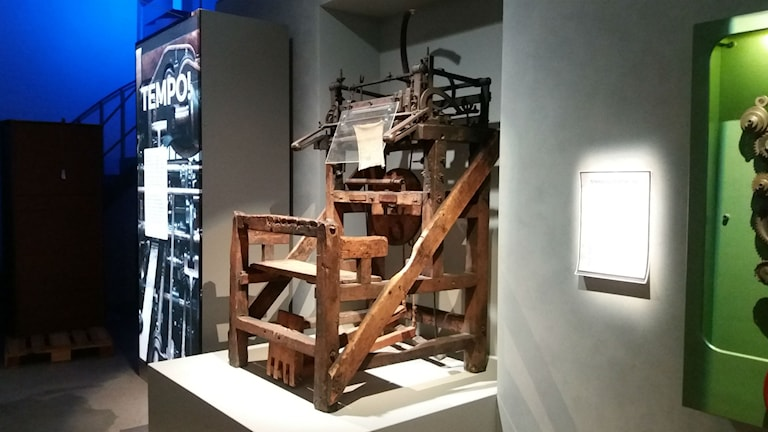 Spinnmaskin från slutet av 1700-talet.