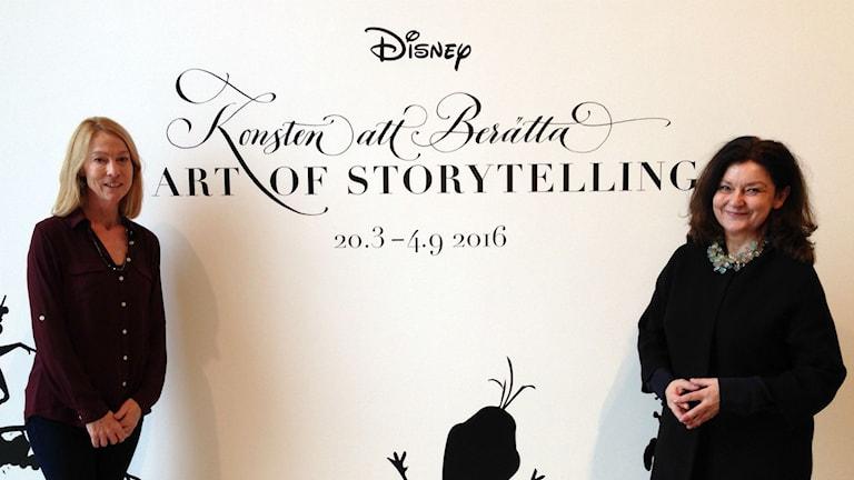 Mary Walsh managing director Walt Disney Animation Research Library och Bera Nordal museichef Nordiska akvarellmuseet.