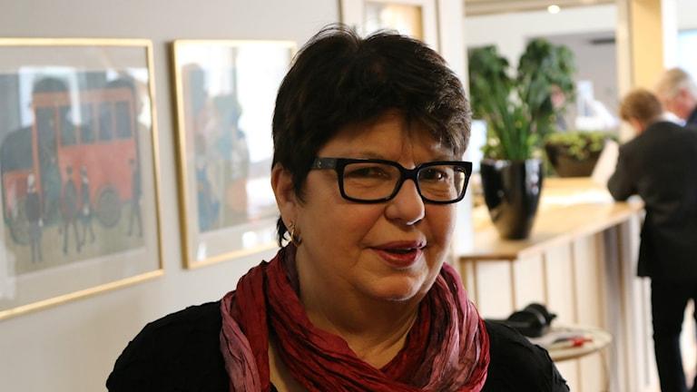 Phia Andersson, Socialdemokraternas partidistriktsordförande för Södra Älvsborg. Foto: Eric Porali.