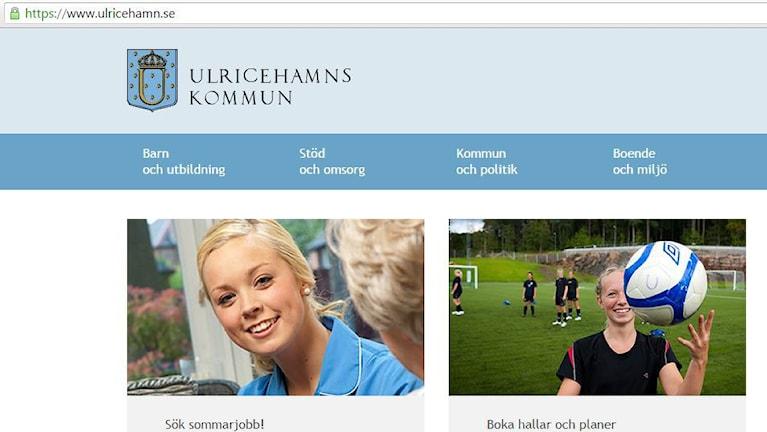 Ulricehamns webbplats