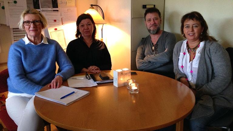 Ann-Christin Nilsson, Nina Kjällquist, Juan Ochoa och Sanna Källman.