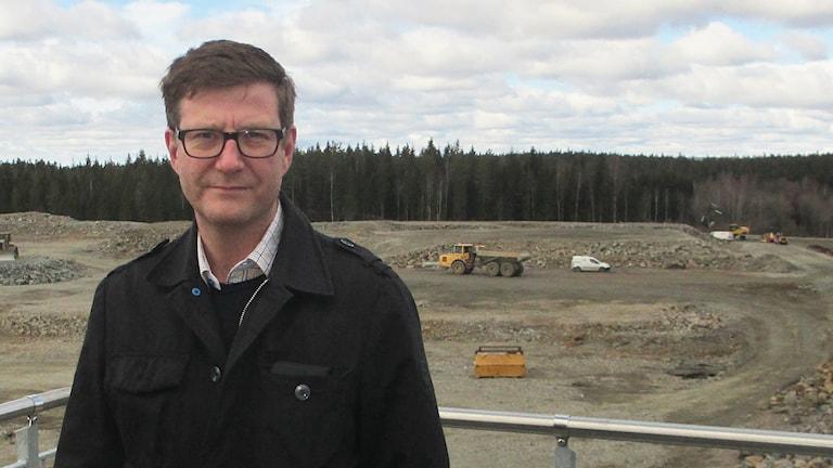 Anders Fransson är projektledare för det som hör till avloppsreningsverket och biogasdelen