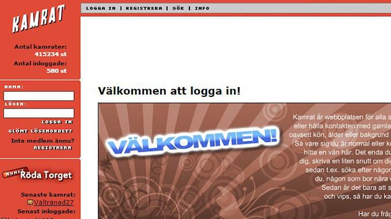 Webbsidan Kamrat.com