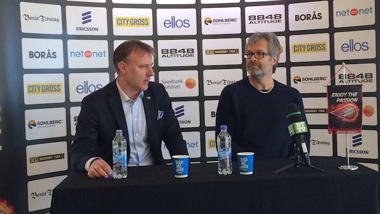 Jonte Karlsson när han presenterades som ny coach för Borås Basket under onsdagen.