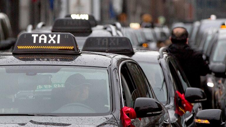 Bilden visar inte det aktuella taxibolaget