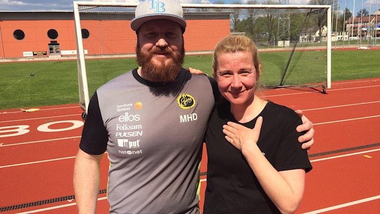 Fystränare Magnus Hellman Driessen och Kristin Holmberg