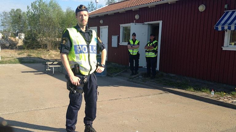 Polisen Markus på kontrollplats Viared i Borås.