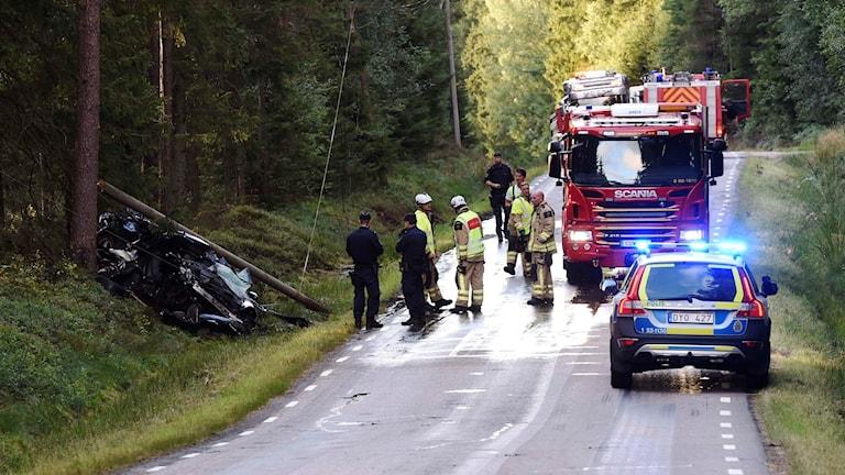 Olyckan mellan Töllsjö och Bollebygd.
