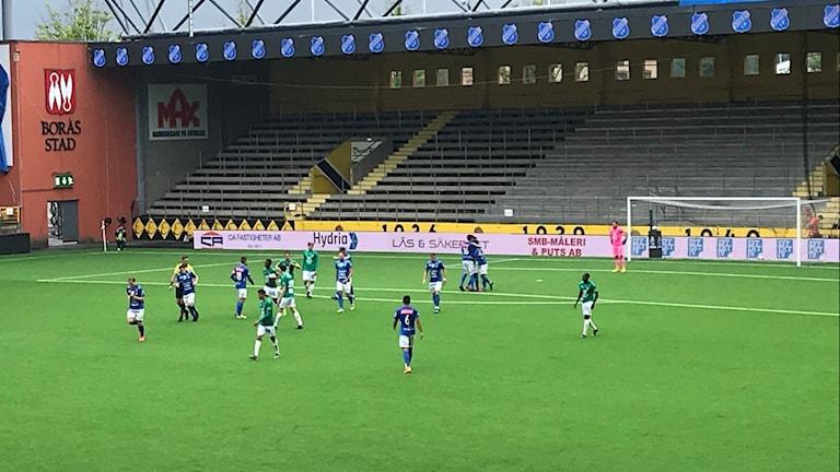 Norrby jublar efter ledningsmålet mot Jönköping.