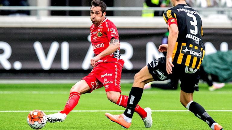 Elfsborgs Emir Bajrami under förra säsongens bortamöte med Häcken.