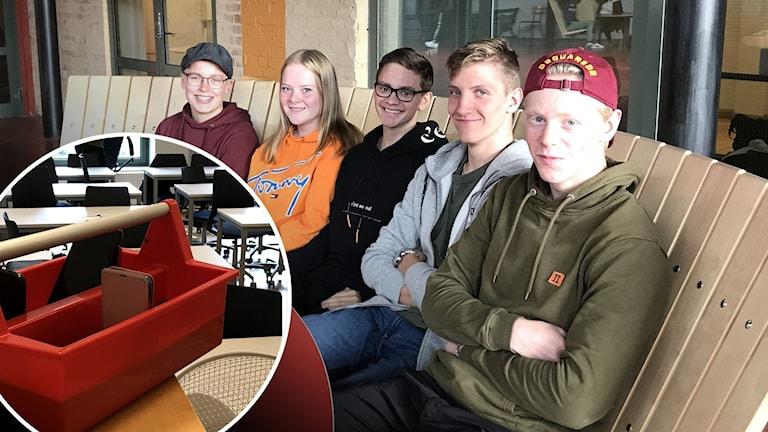 Nicolas Bredell, Ella Högfeldt, Erik Wideström, Arvid Källén och Ludvig Johansson