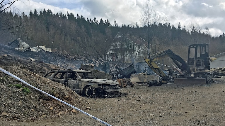 Brand i verkstad i Frufällan.