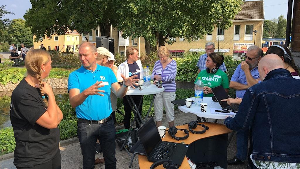 P4 Sjuhärads valsändning i Svenljunga.