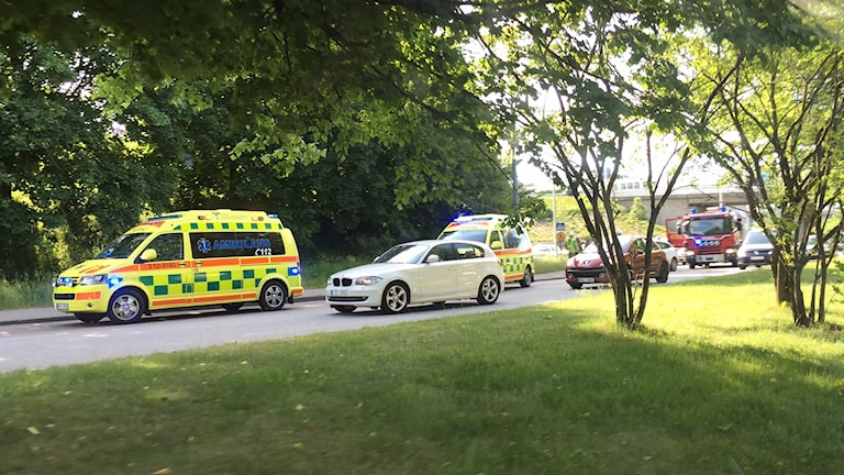 En kollision i Annelundsmotet orsakade stopp i trafiken.