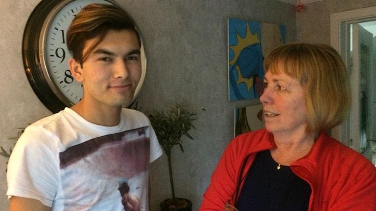 Ali med sin gode man Ing-Marie Andersson. Foto: Markus Alfredsson