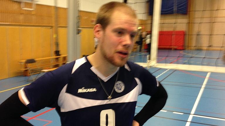 Hans Qvarnström, spelande tränare i Ymer Volleyboll