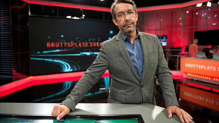 Hasse Aro programledare för Brottsplats Sverige i TV 4.