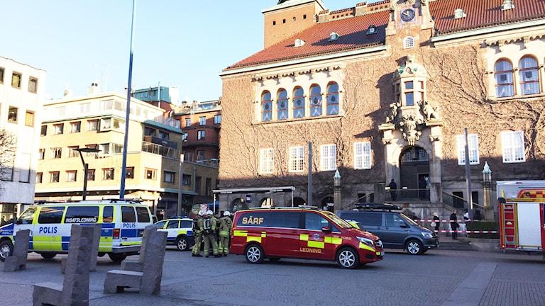 Borås tingsrätt utrymd efter hot