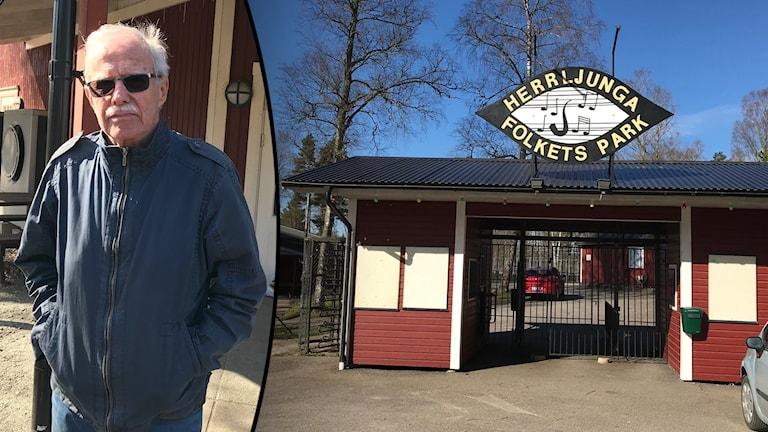 Kjell Olofsson är ordförande för Folkets park i Herrljunga.