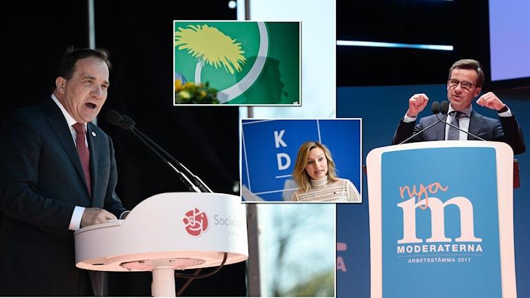 Vinnare och förlorare i SCB partisympatiundersökning november 2017